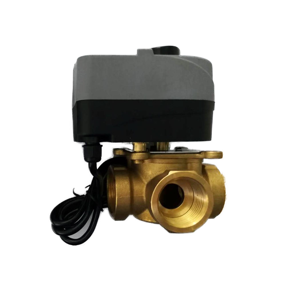 Adjustable Water Temperature Brass Thermostatic Mixing Valve