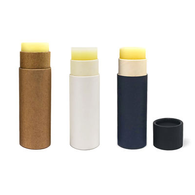0.5 oz wholesale biodegradable black cardboard push up paper deodorant lip balm tube