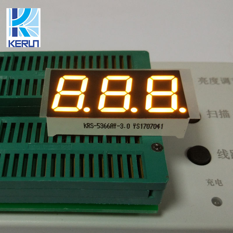 Wholesale product 11pin 0.56'' three digits yellow 3 triple 7 segment led displays