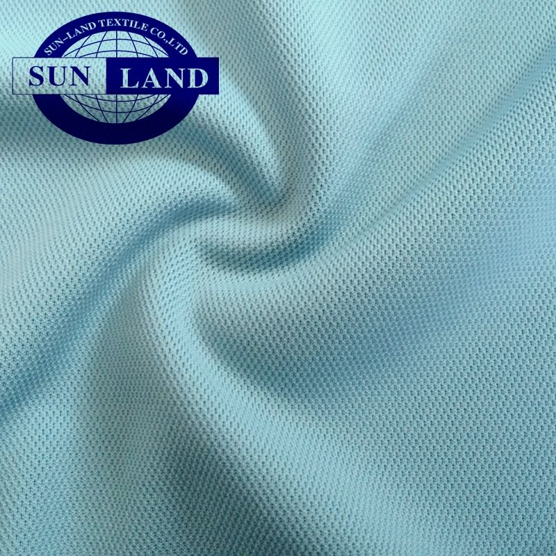 Quick drying moisture absorbing anti ultraviolet sun ray pique mesh fabric