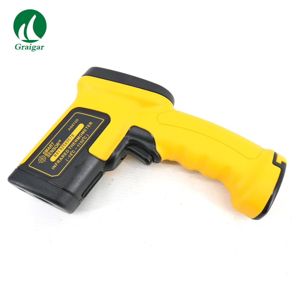 High Temperature AS872D Digital IR Infrared Thermometer Emissivity 0.10~1.00 Adjustable