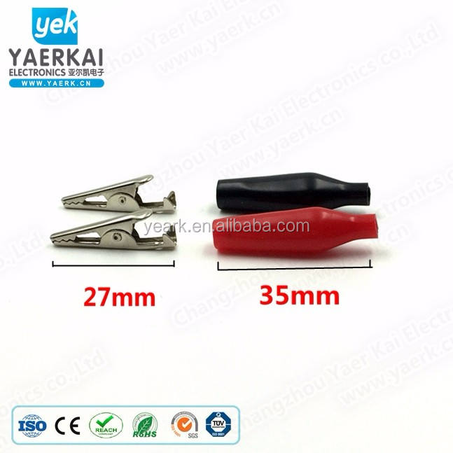 Factory Direct Sales insulated nickel-plated metal alligator clip