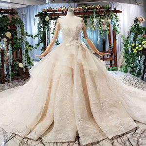 HTL548 Jancember Long Sleeve beaded Casual Bridal Dresses wedding dress bridal gown