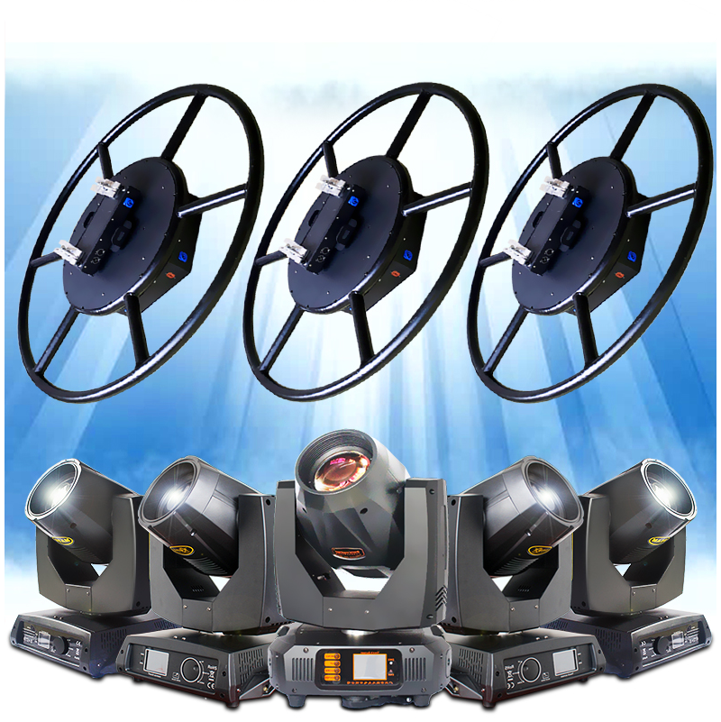 2DMX 512 one channel dj party weeding stage effect mini rotary circle lighting truss for sale