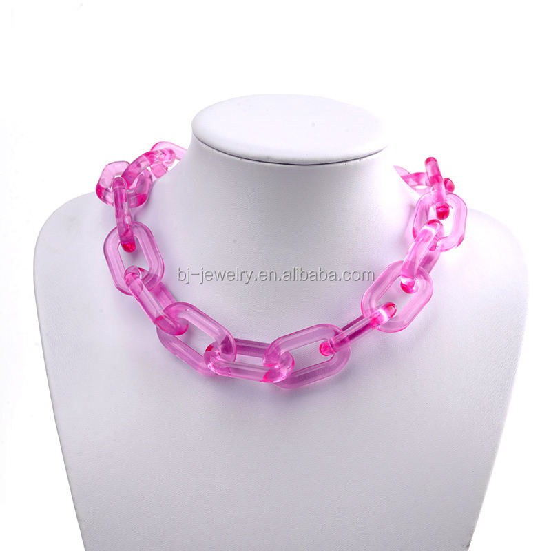 Fashion statement chunky chain plastic vrouwen ketting