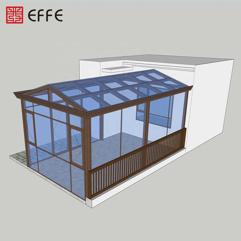 soundproof thermal break aluminum luxury conservatory laminated glass sunroom