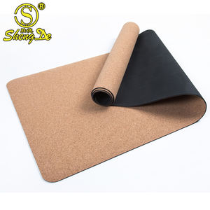 Wholesale Private Label Luxury Non-slip Waterproof Antimicrobial Cork Yoga Mat Custom