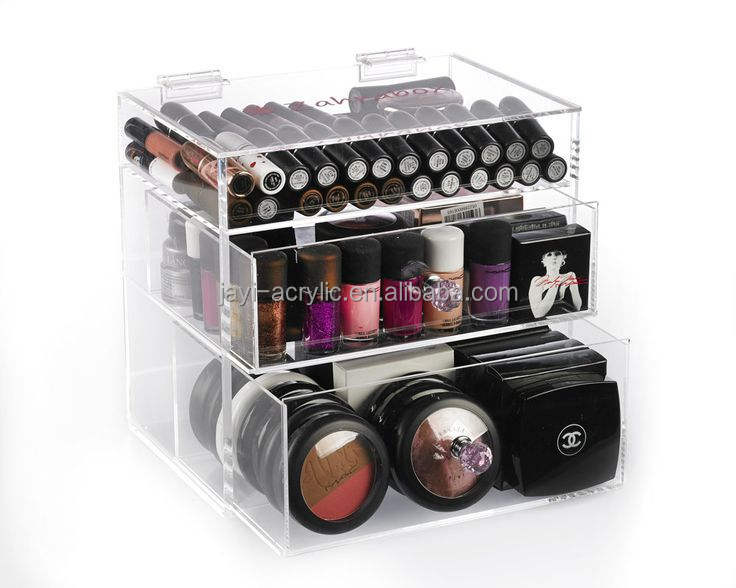 wholesale custom 6 drawer acrylic makeup organizer with drawers