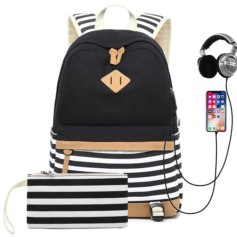 school bag, feminine canvas school backpack youth cute backpack for teenagers girls