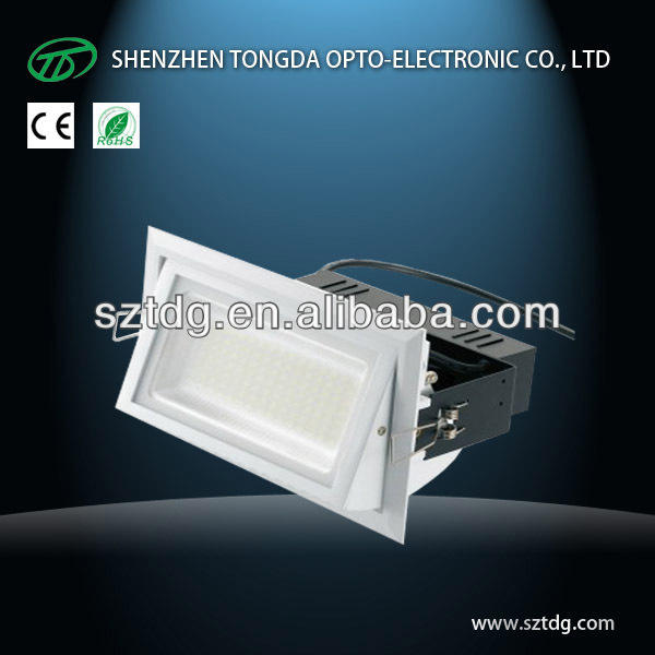 LED factory SMD 40W LED retangular LED Down light white/cool wite for office/gallery/hotel