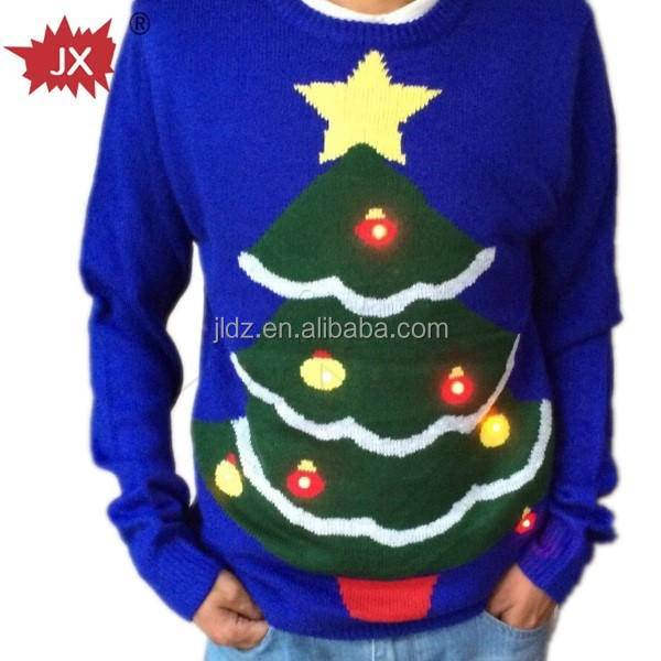 Women and men Christmas Sweater with small waterproof led lights adult Christmas man sweater