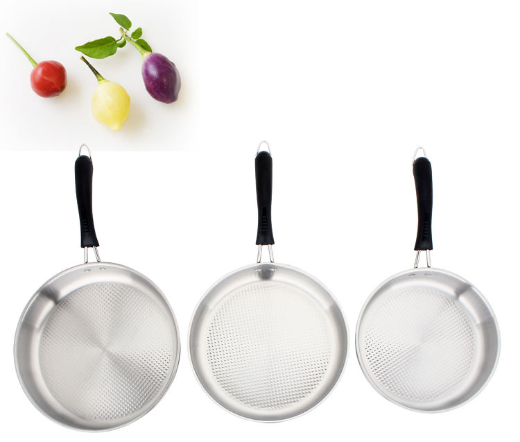 Stainless Steel Induction Frying Pan Skillet