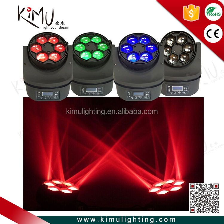 6x15 W 4in1 Ape Occhio LED Effetto Fiore Con Il Caso di Volo Multi Fascio Moving Head Light per DJ Disco Party