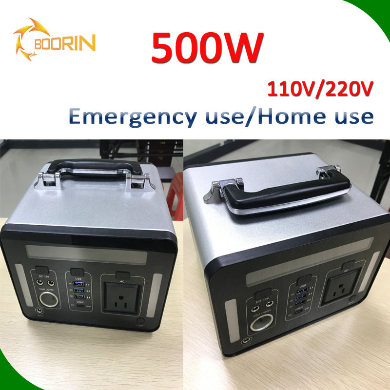portable home power station AC 110v 220v MB100 MB200 MB300 MB500 for home use 500W station power bank with quick charge USB