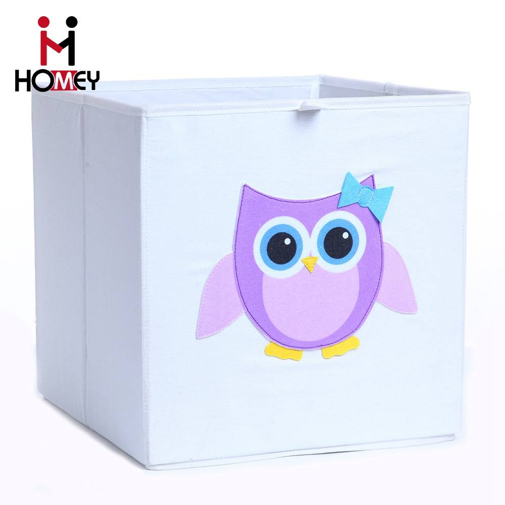 wholesale custom home multipurpose folding storage box kid fabric toy car storage box
