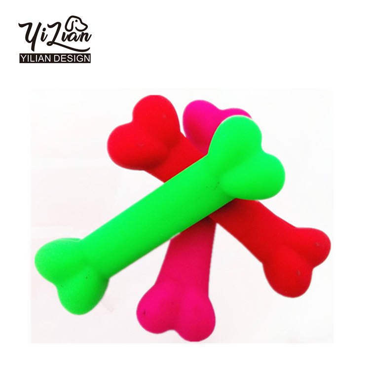Custom Dental Durable Puppy Silicone Rubber Pet Dog Chew Toy
