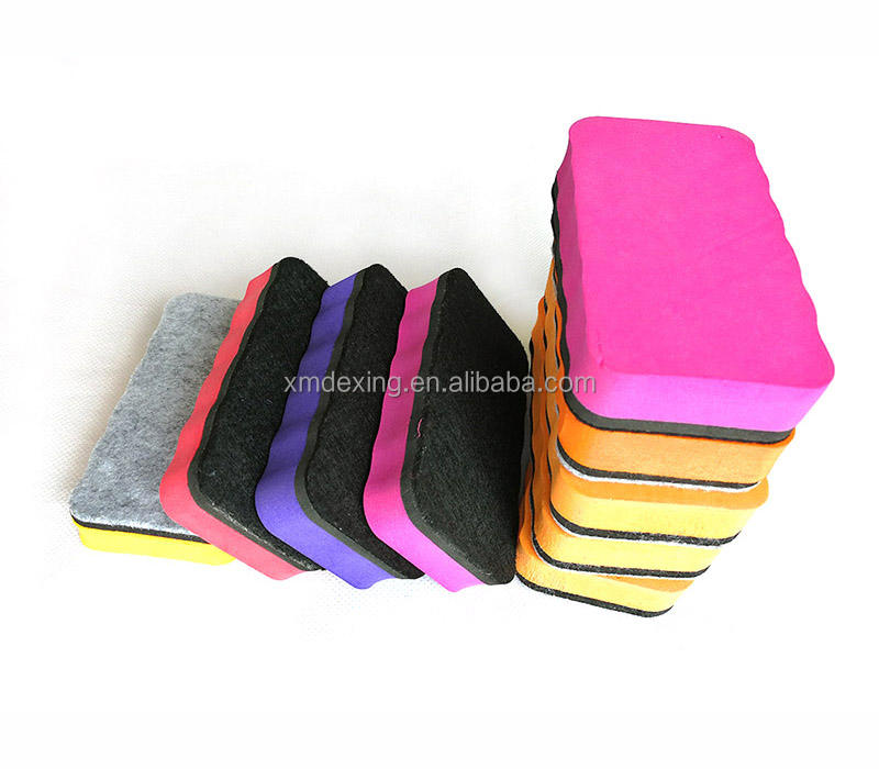 Green  Red  Yellow  Blue  Purple Magnetic Whiteboard Dry Erasers  Whiteboard Erasers for Classroom  Home and Office