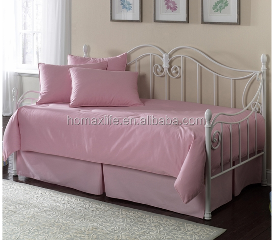 European new style living room furniture design wrought metal sleeping sofa bed frame