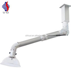 High quality laboratory smoke exhaust hood suction arm safe fume extraction arm