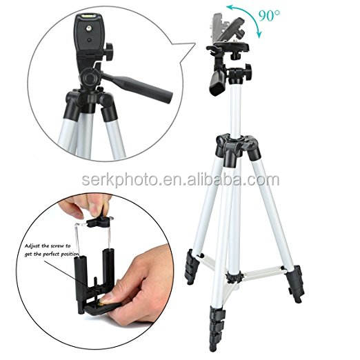 Aluminum Camera Tripod/phone tripod Smartphone Mount for phone and Other Brands cellphone
