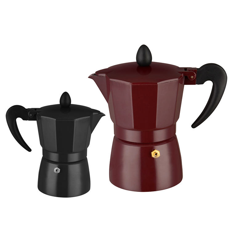 Factory Price Italian Style Colored Aluminum Portable Espresso Coffee Maker