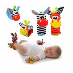 Cartoon Baby Toys 0-12 Months Soft Animal Rattles Children I