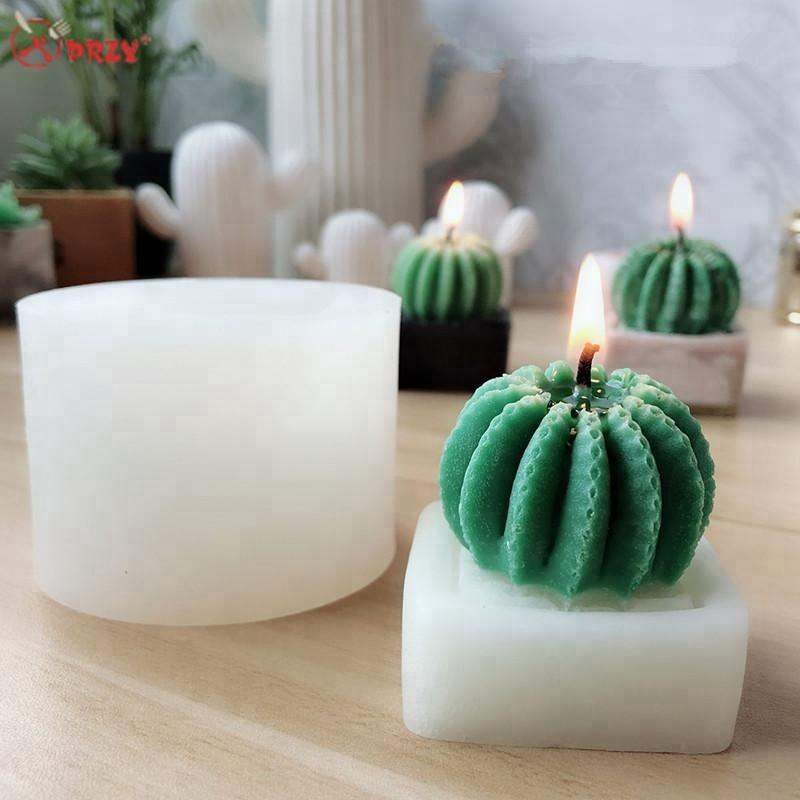 Cactus Candle molds succulent cactus Gypsum decoration silicone forms Handmade soap mold