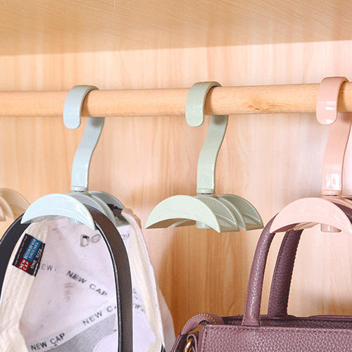 Sturdy Double Hanging Hooks Practical Rotating Scarf Ties Bags Storage Rack Useful For Home Office Pothook Durable Design