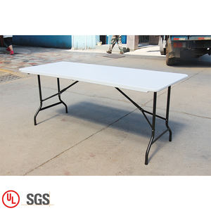 Camping Outdoor Plastic Folding Metal Camping Tables 6 FT Wholesale