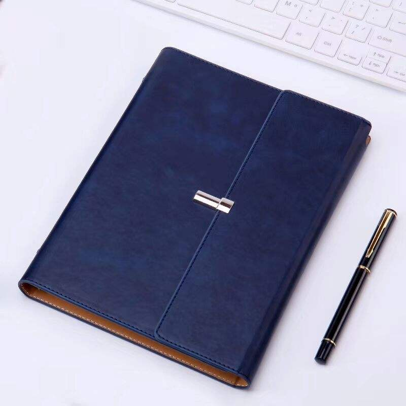 A5 Loose Leaf 6 Ring Binder Leather Journal Diary Notebook For Promotion