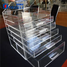 wholesale cosmetic store 4 tier clear acrylic make up boxes