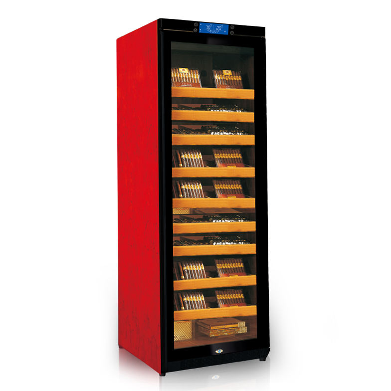 raching c380a oak cherry wood refrigerated cigar cooler humidor for sale