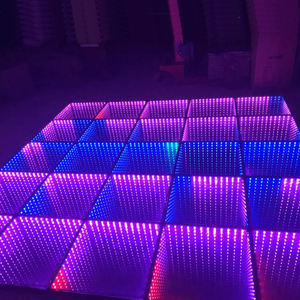 Vendita calda impermeabile RGB Temperato di Vetro Senza Fili LED Infinite 3D specchio led Pista da ballo per night club e discoteca & bar