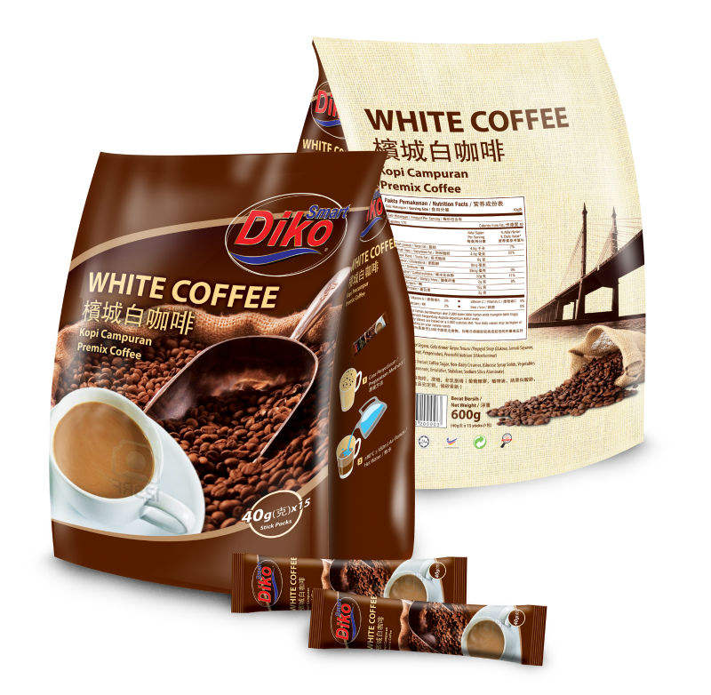 Malaysia instant white coffee mix 3in1 600gm per pack