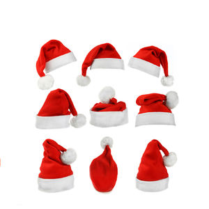 2020 Winter promotional custom christmas santa hats