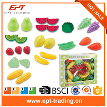 High simulation children pretend play vegetables and fruits toys for sale