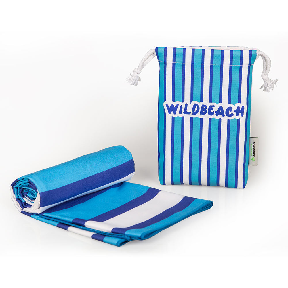 2020 Promotional multi functional microfibre compressed beach towel recycled towel