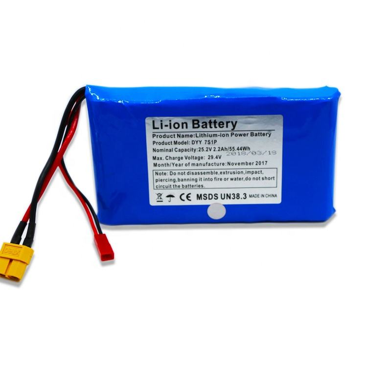 DTP Power type cell pack 7S1P 18650 li ion 25.2v lithium ion battery