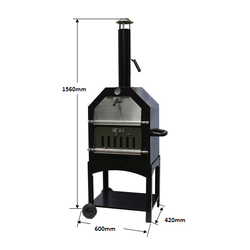 Factory direct Wood Fired Double Door Outdoor Pizza Oven for sale