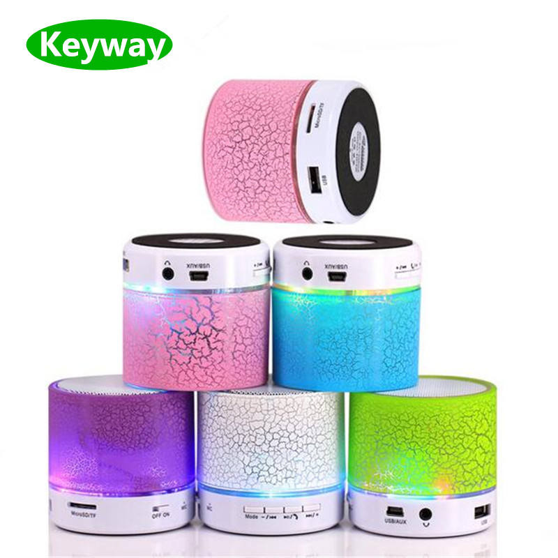 2020 Factory price Portable Mini led light smart wireless Bluetooth Speakers s10 with FM radio