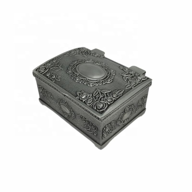 Mini Size Antique Style Metal Jewelry Box Metal Jewelry Case