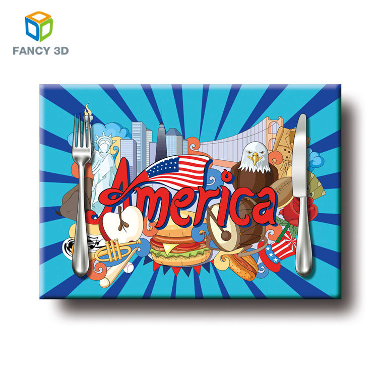 Zebulun Trendy Custom Size Colorful PP 3D Lenticular Printing Kids Placemat