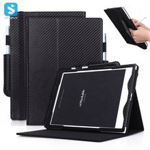 With Stand High Quality PU Leather Carbon fiber business Case Cover with Hand Strap Pen Holder for Remarkable Digital Paper 10.3