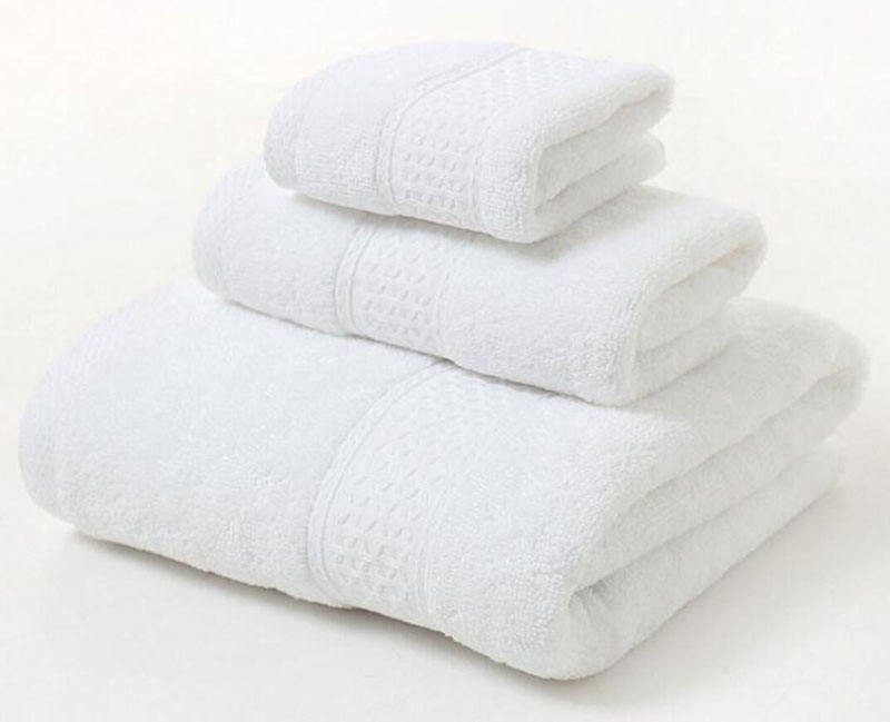 7006 Luxury bath Towel Set 100% cotton bath towel soft and super absorbent 12colors Bathroom 3-Piece Towel Set