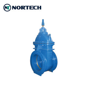 Custom made Big size metal seat water application Non-rising stem Cast iron gate valve