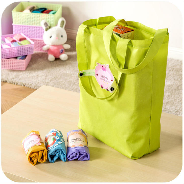 Cartoon environmentally friendly waterproof large supermarket tote bag can be customized logo gift bag