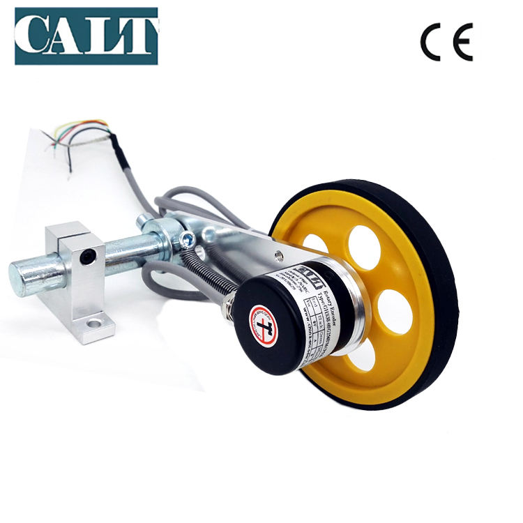 CALT Length Position Meter Measuring 500 Pulse wheel Rotary Encoder sensor