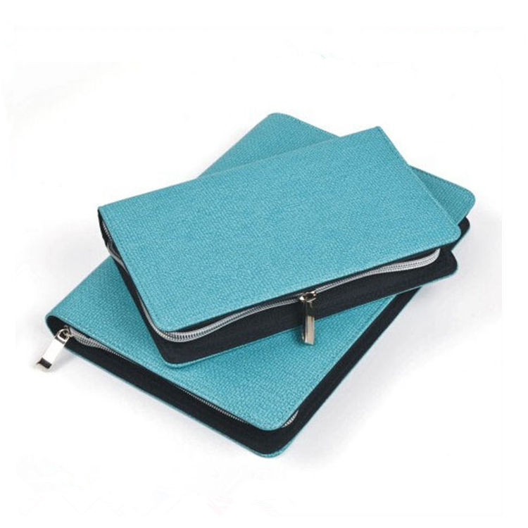 2018 New Blue In Pelle Con Zip Notepad Portfolio per la <span class=keywords><strong>signora</strong></span>