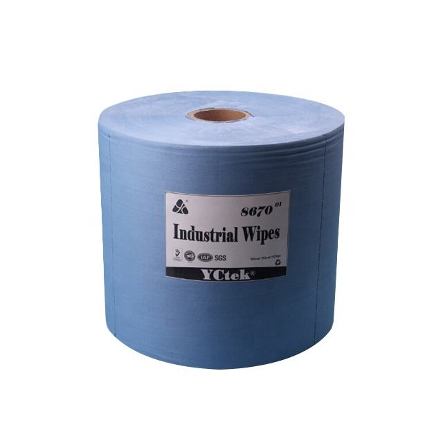 Wood pulp & PP Nonwoven Fabric Industrial Wipes