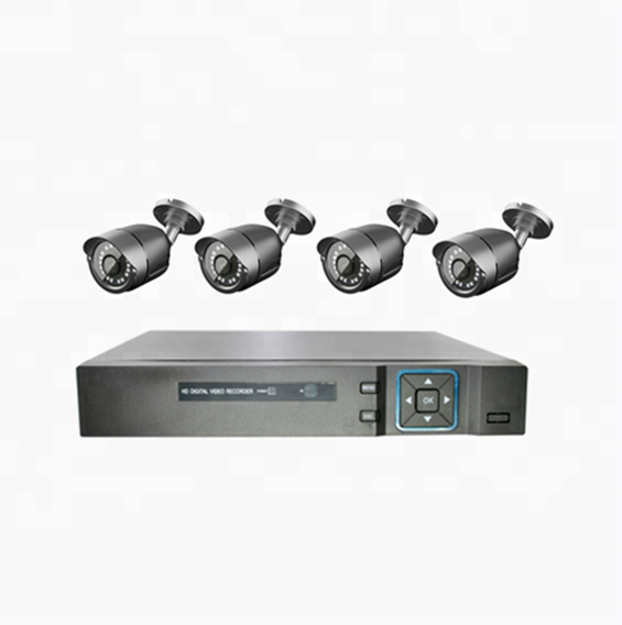 Enxun HD CCTV 720 마력 AHD 카메라 4CH 독립형 AHD CCTV DVR AHD Camera System Kit